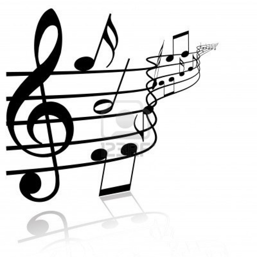 1024x1024 Black And White Music Background Clipart