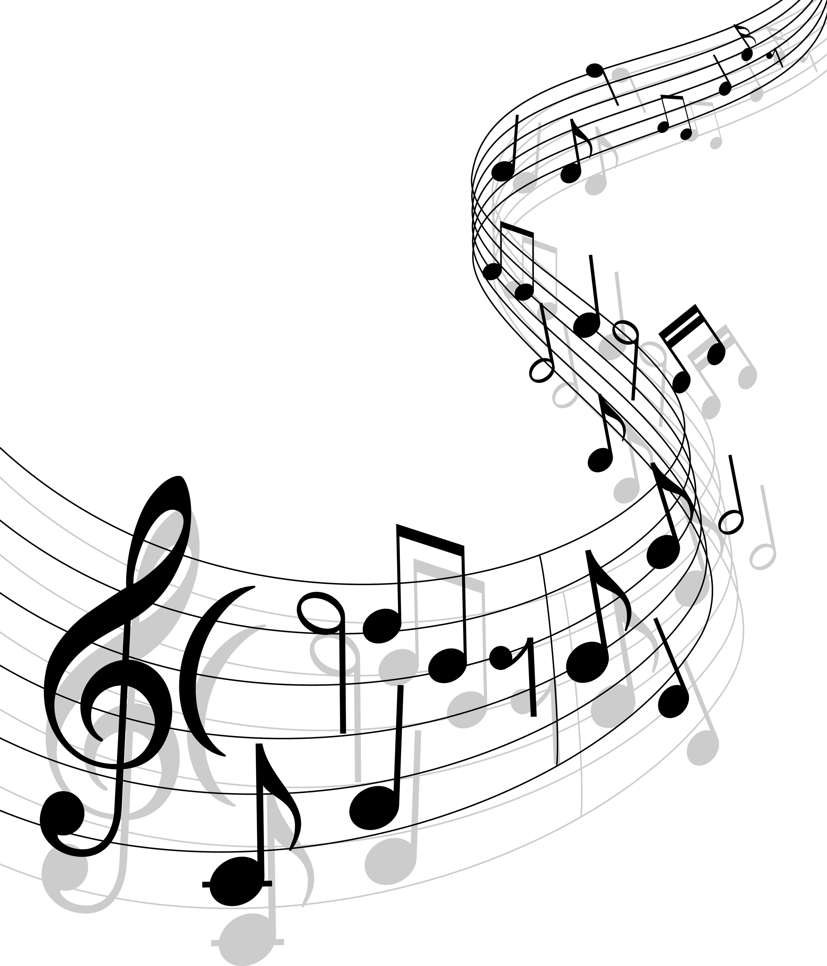 2800x3272 Black And White Music Background Clipart