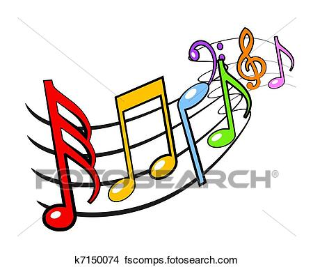 450x383 Drawings Of Music Notes K7150074