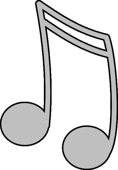 414x595 Silver Music Note Clip Art