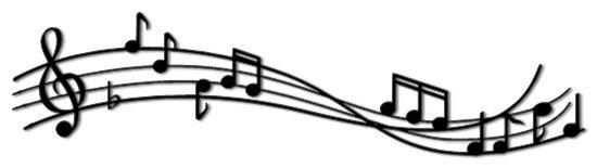 550x155 Music Note Border