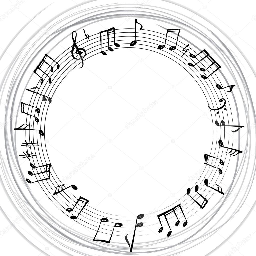 1024x1024 Music Notes Border Stock Vector Yokodesign