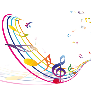 380x400 Musical Borders Colorful Music Note Border Free Clipart Images