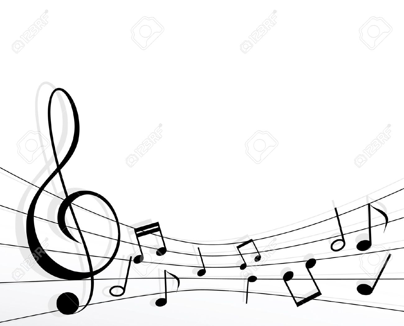 1300x1050 Musical Borders Music Note Border Clipart