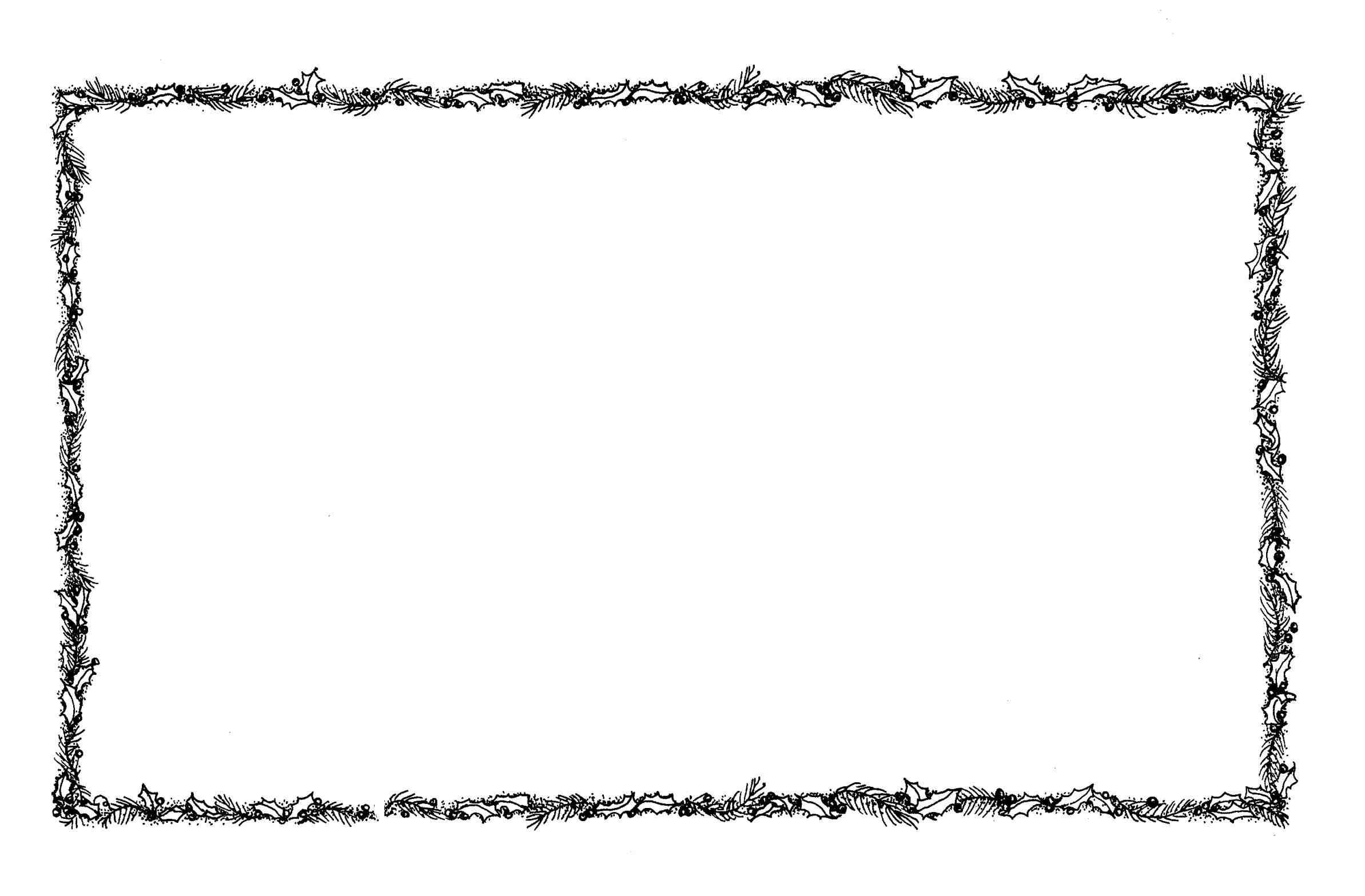 2387x1568 U Christmas Music Border Clip Art Black And White Happy Holidays