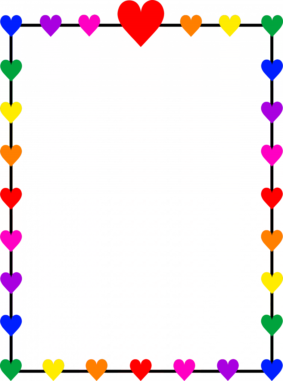 940x1265 Colorful Music Clipart Border