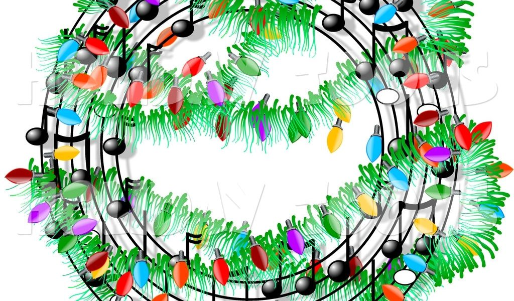 1024x600 Christmas Music Border Clipart Happy Holidays!