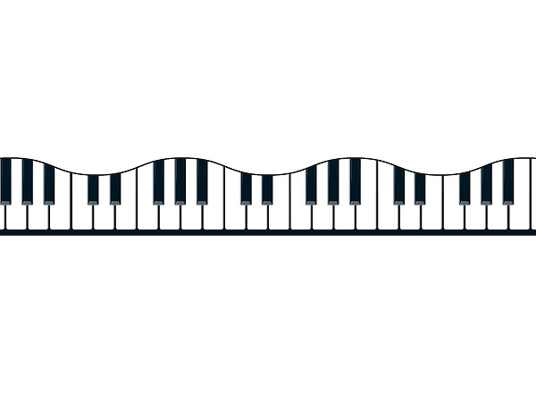 600x440 Musical Borders Musical Keyboard Border