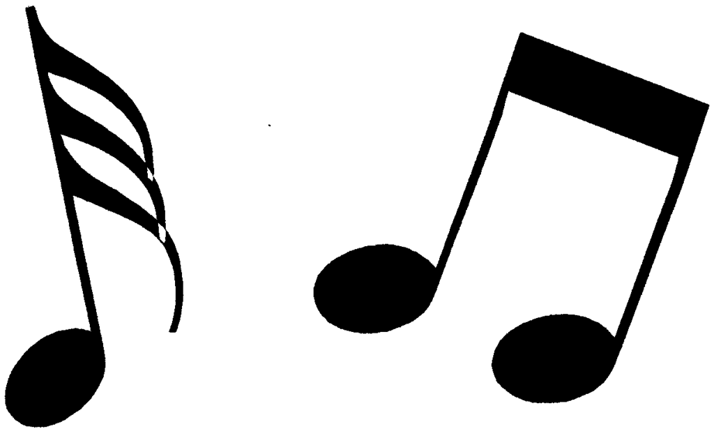 1024x618 Free Clipart Music Notes Black White