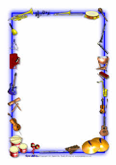 241x341 Musical Instruments Themed A4 Page Borders (Sb3886)
