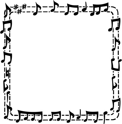 411x418 Song Clipart Frame