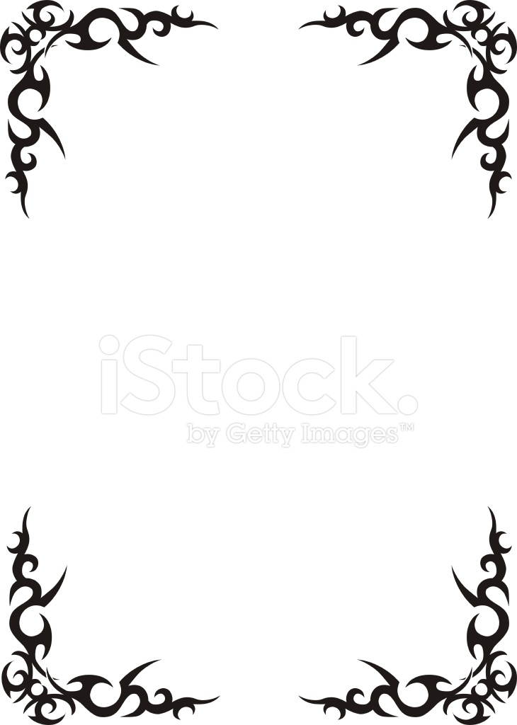 730x1024 Tribal Border Design Stock Vector