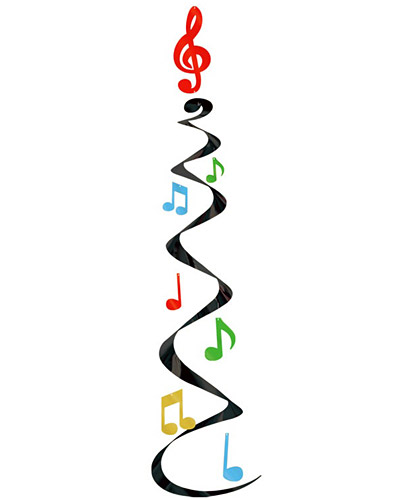 400x500 Free Colorful Music Notes Clipart Image