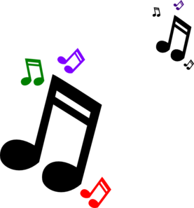 277x297 Colored Music Notes Clip Art