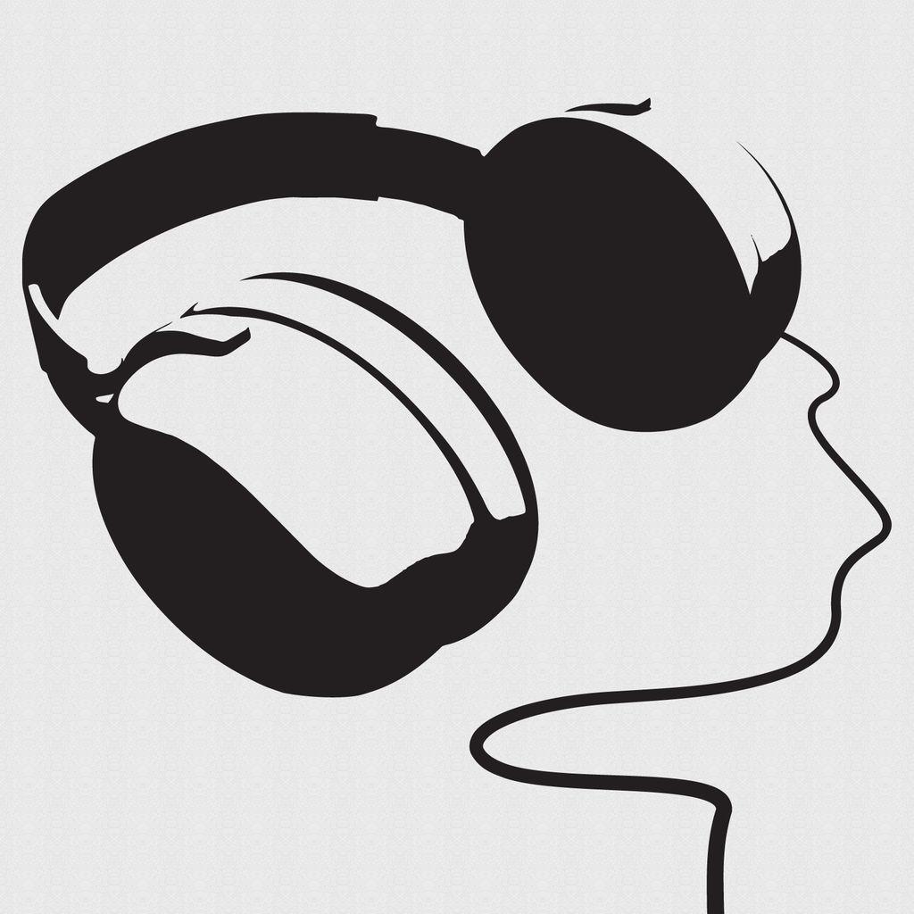 1024x1024 Headphone Clipart Music