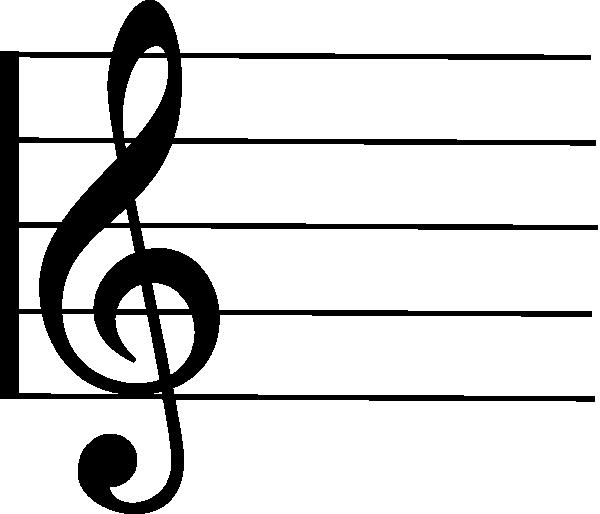 600x514 Music Staff Clip Art