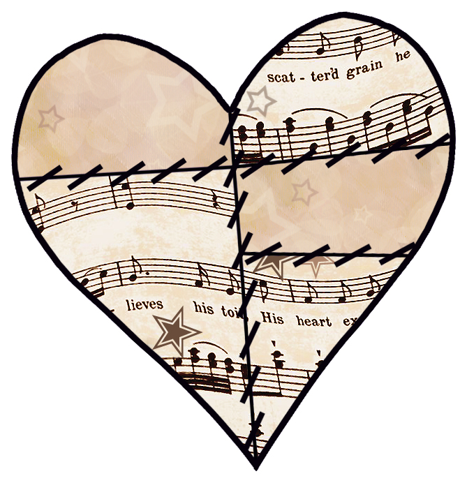 669x692 Old Sheet Music Clipart