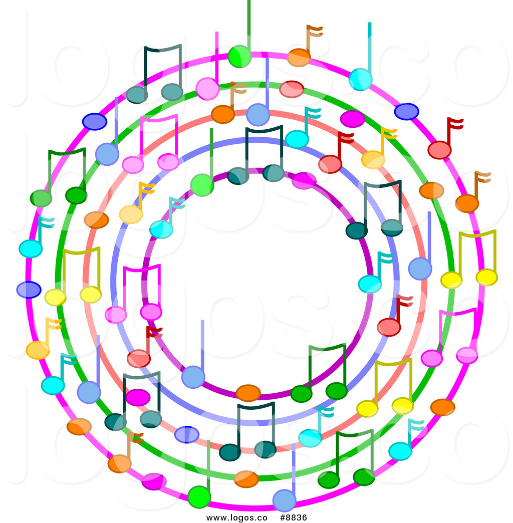 1024x1044 Royalty Free Clip Art Vector Logo Of A Wreath Of Colorful Music