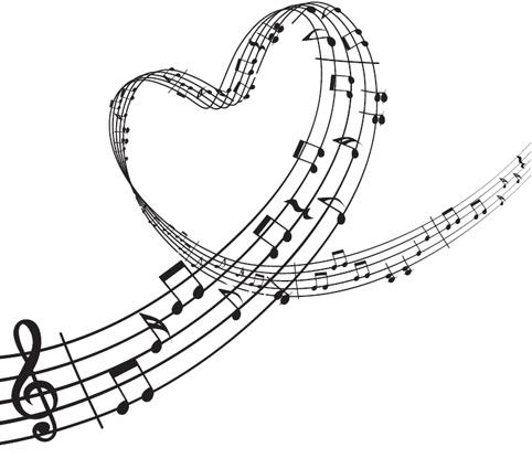 482x415 Music Heart Clipart
