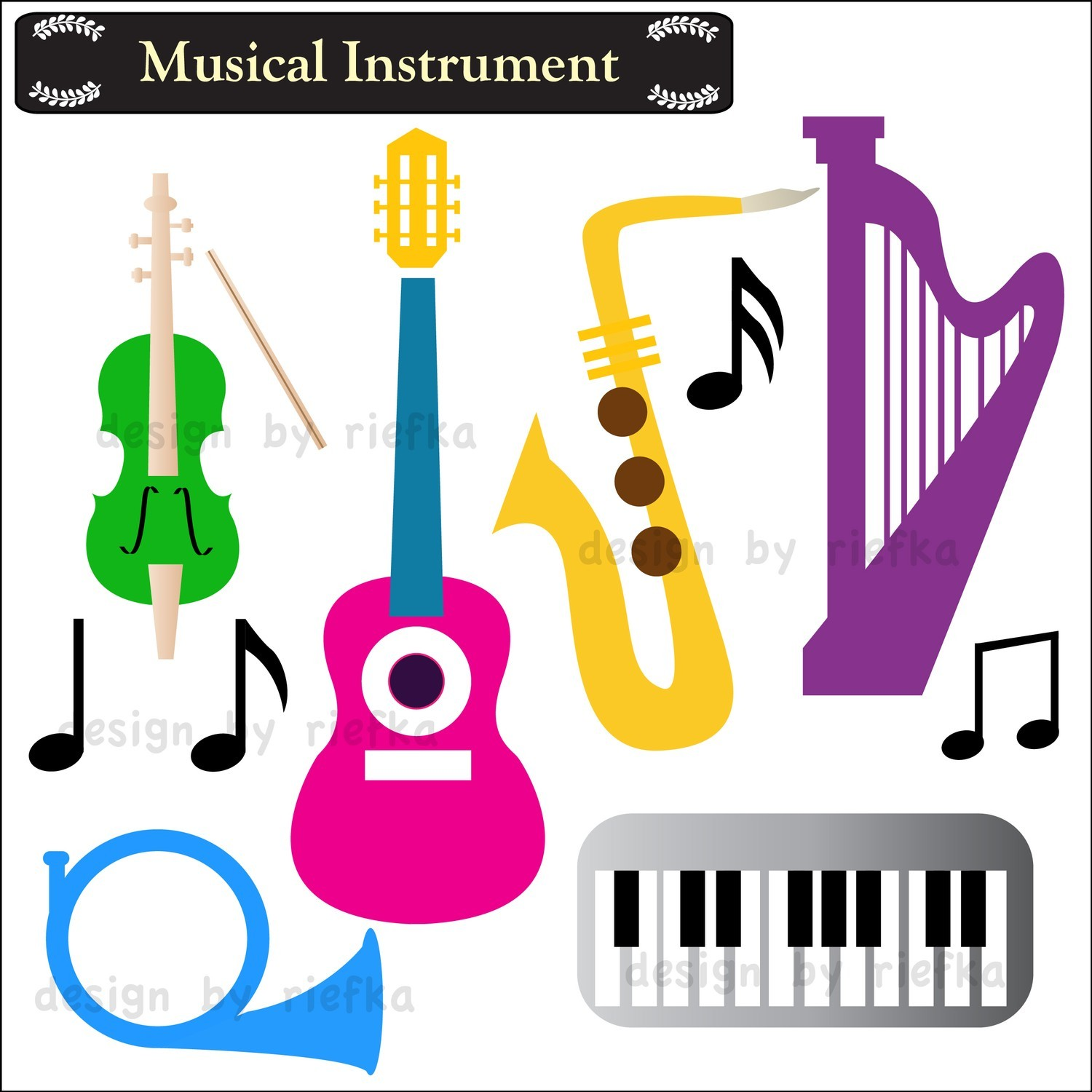 1500x1500 Musical Instruments Cliparts
