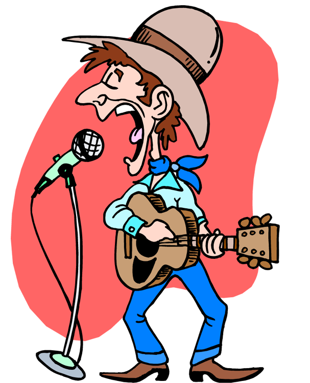 607x750 Country Music Clipart