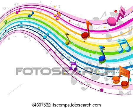 450x365 Clip Art Of Rainbow Music Wave K4307532