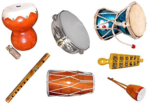 500x375 Handmade A Complete Combo For Bhajan Set Of 7 Musical Instruments