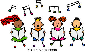 300x185 Kids Singing Clipart