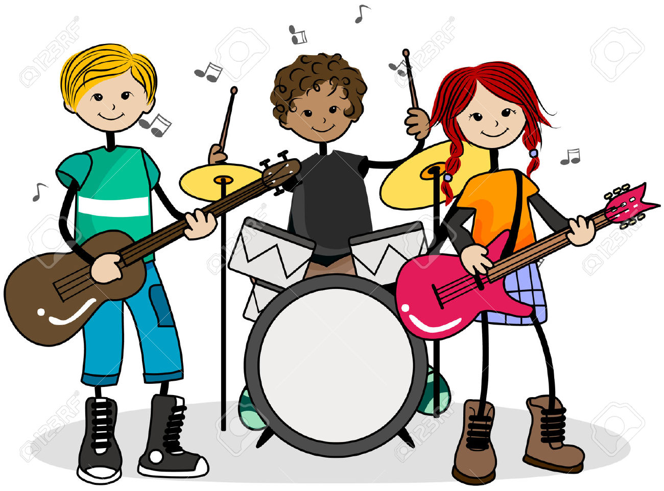1300x962 Musical Clipart Kid Band