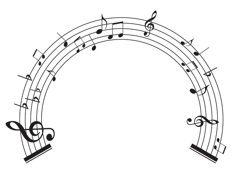 800x600 Circle Clipart Music Notes