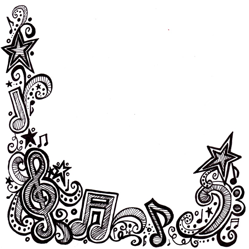 811x811 Music Notes Clipart Frame