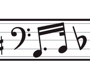 300x262 Music Note Border Free Clipart Music Notes Border Clip Art Library
