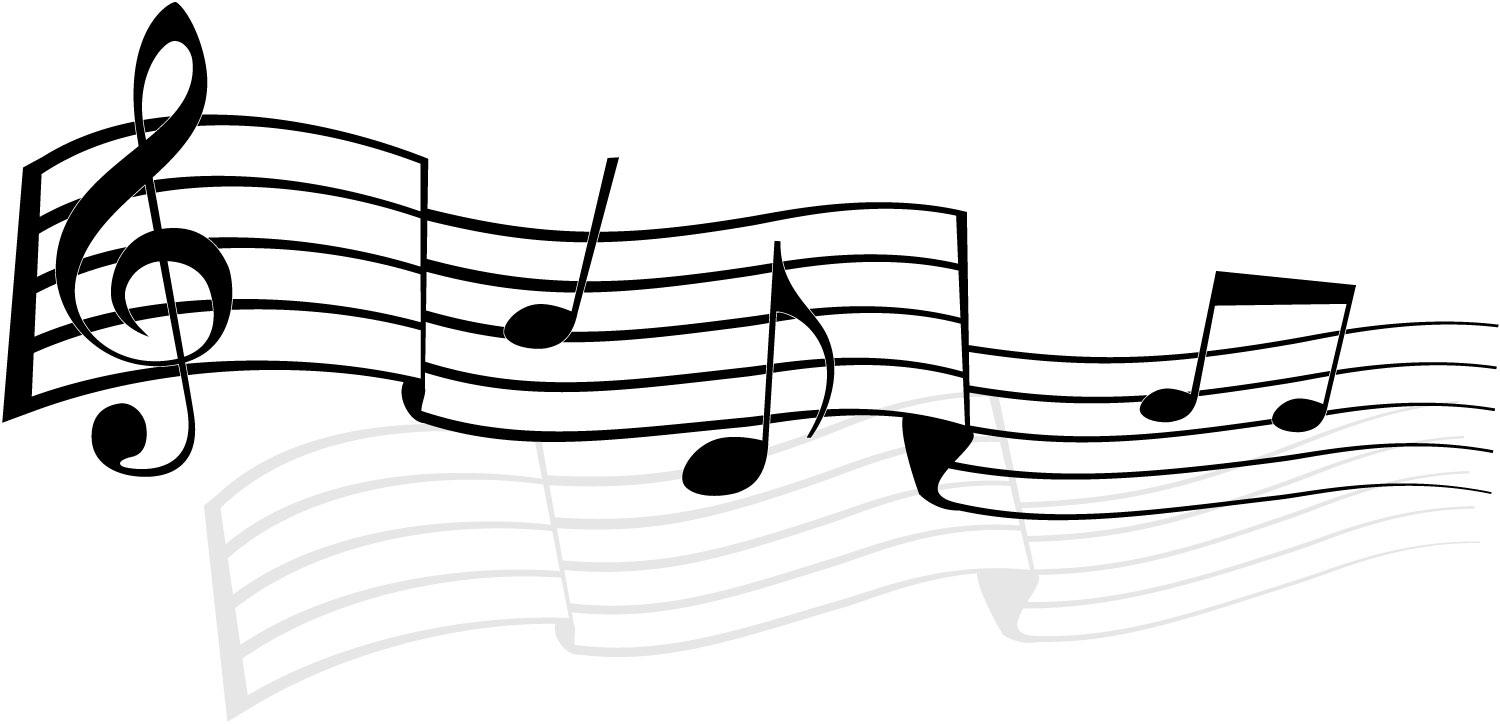 1500x724 Transparent Background Music Note Border Clipart