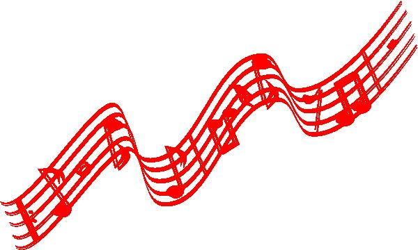 600x360 Christmas Music Notes Border. Musical Borders Music Note Border