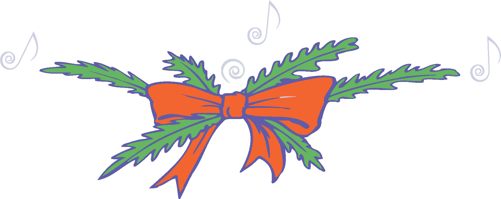 1744x692 Christmas Music Notes Clipart