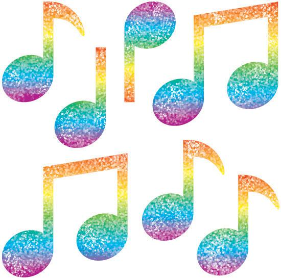 550x547 Dazzle Stickers Music Notes 105pk Cd 2913