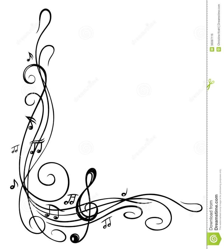 736x819 Free Clipart Music Notes Border
