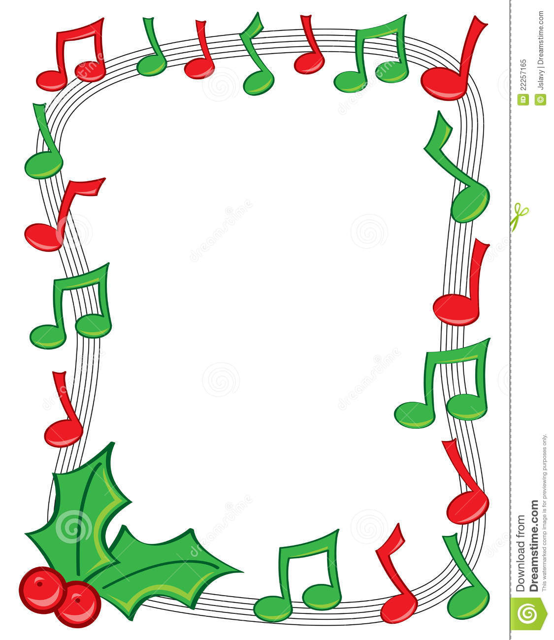 1125x1300 Christmas Music Notes Border Clip Art