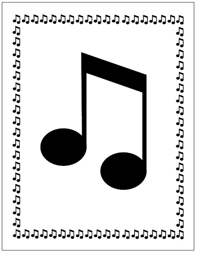 music note border for microsoft word