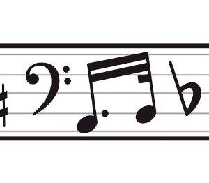 300x262 Best Music Note Border