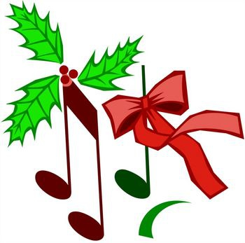 350x347 Christmas Music Note Clipart