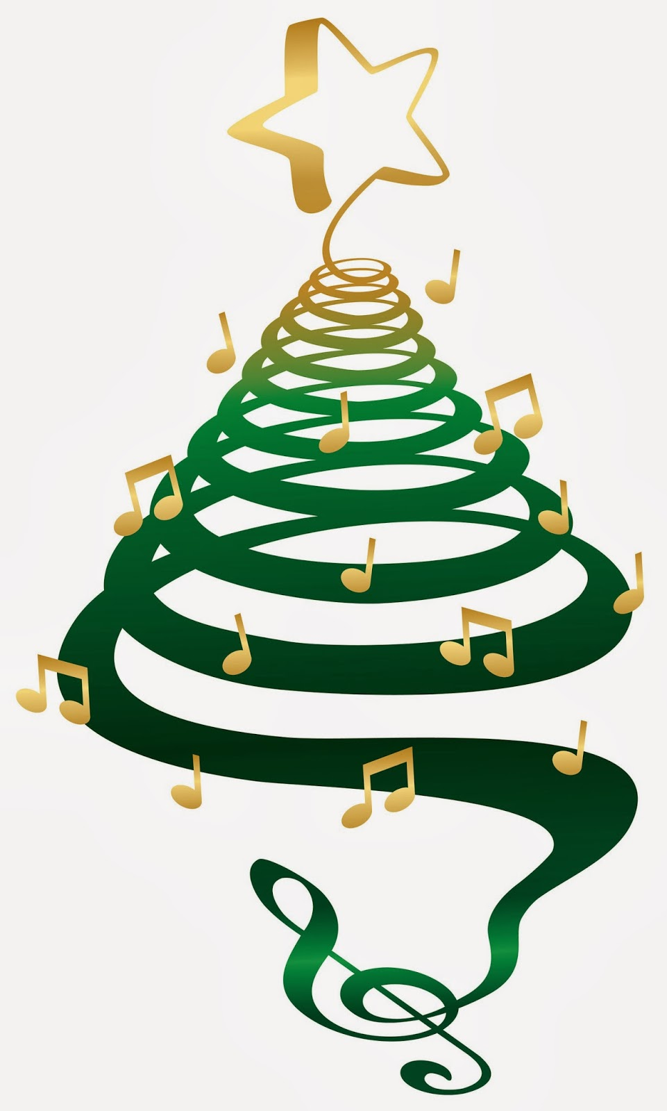 961x1600 Christmas Music Notes Clipart