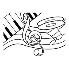 230x230 Euphonium Coloring Page Embroidery