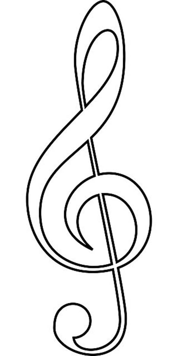 600x1200 Music Notes Clipart Coloring Page