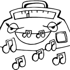300x300 Musical Music Notes Coloring Page Musical Music Notes Coloring