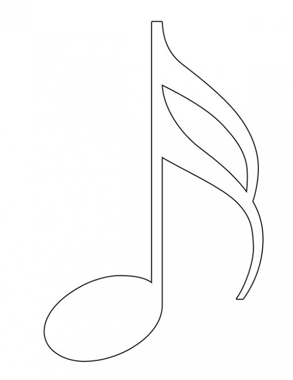 590x763 Semiquaver Coloring Page Music Ed.