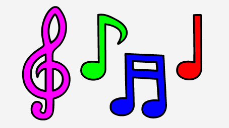 454x255 Top 10 Free Printable Music Notes Coloring Pages Online