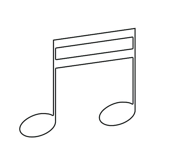 600x537 Music Note Coloring Page