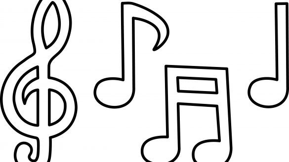 585x329 Coloring Pages Of Music Notes Coloring Page We Are All Magical
