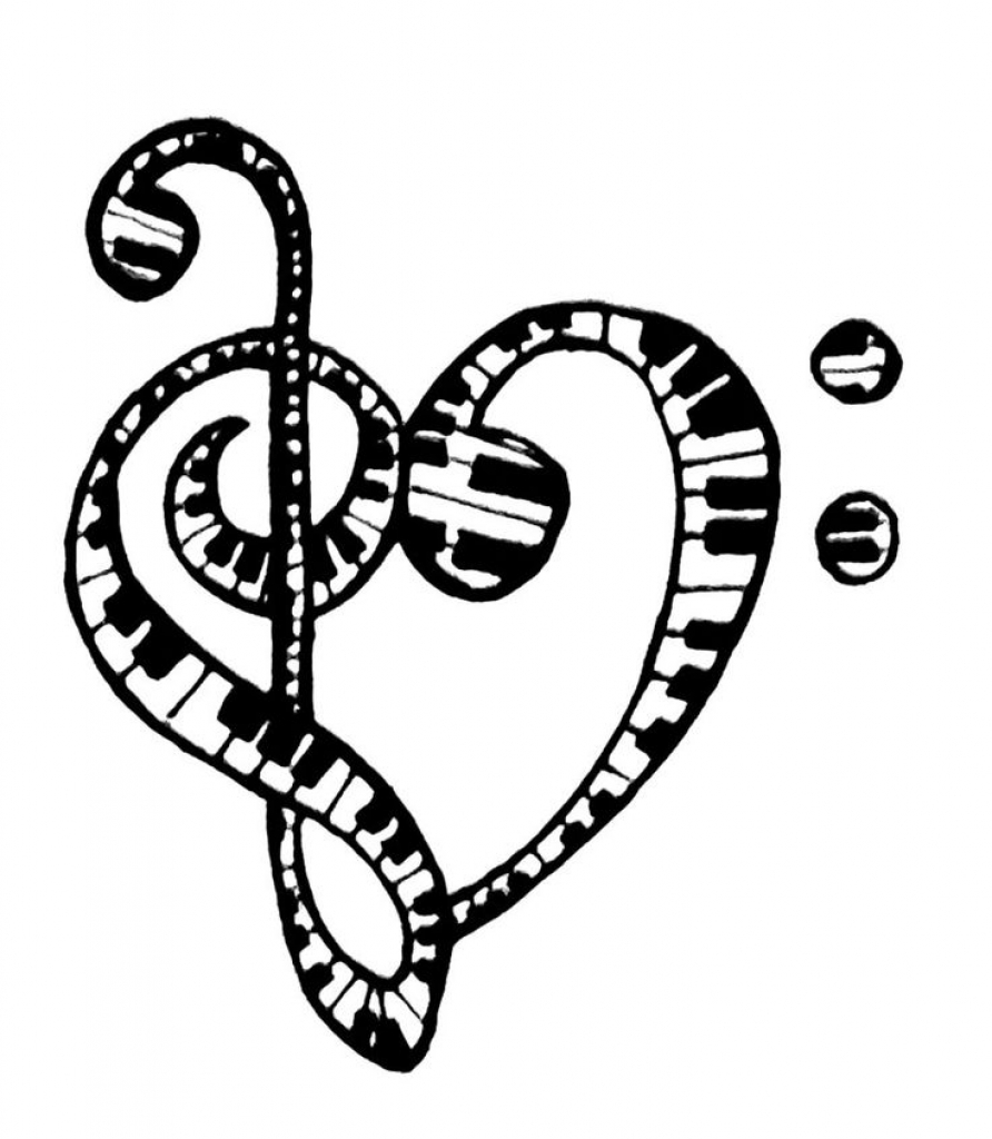 892x1024 Coloring Pages Of Music Notes Coloring Pages Music Note Coloring
